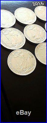 100 2016 Britannia. 999 Solid Silver 1 0z. Free Insured Guranteed Delivery