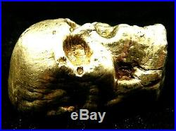 100 Gram Fine Silver SKULL Art Ingot 999 by ZACH -SOLID stands up for display