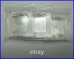 100 Gram Geiger Edelmetalle Silver Bar. ORIGINAL SQUARE ASSAY