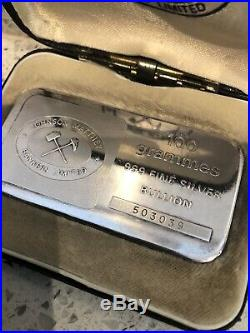 100 Grammes 999 Solid Silver Bullion Rare Johnson Matthey