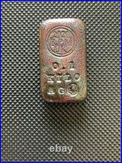 100 Grams 999 Fine Solid Silver Bar/bullion