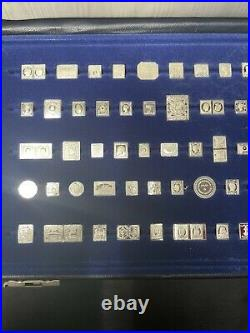 100 Greatest Solid Silver Mini Stamps Of The World Silver Ingot Stamps Complete