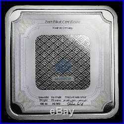 100 oz Silver Bar Geiger Edelmetalle (Original Square Series) SKU#155917