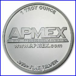10X 1oz. APMEX Silver Round Bullion. 999 Fine Solid Silver 10 OZ
