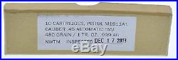 (10) 1oz. 45 Cal Silver Bullet 1 Troy Ounce Solid. 999 Silver 10 Troy Oz total