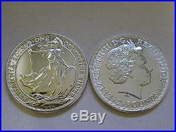 10 Britannias Solid 1oz Fine Silver Coins 2013 In Sure-safe Tube