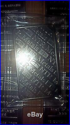 10 Oz Silver Bar. 999 Fine Solid Silver Bullion Bar NTR Metals (SEALED)