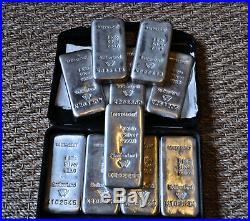 10 kg Fine Silver Metalor Investment 10 x 1 Kg / Kilo Bars Solid Silver Bullion