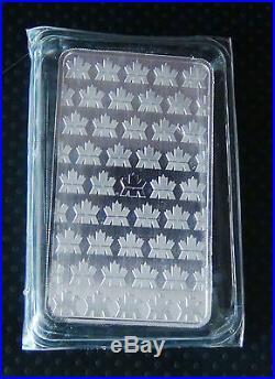 10 oz Royal Canadian Mint. 9999 Solid Silver Bar