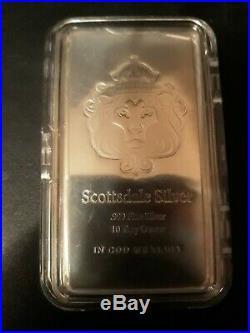 10 oz Scottsdale Mint Silver Stacker Bar. 999 Fine Solid Silver