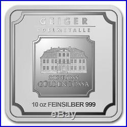 10 oz Silver Bar Geiger Edelmetalle (Original Square Series) SKU#155914
