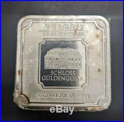 10 oz Silver Geiger Edelmetalle Square Bar