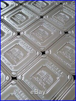 10 x 1 oz Geiger Edelmetalle Schloss Guldengossa Square Silver Bar