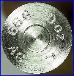 10oz. 999 Fine Silver Bullet 50 Cal BMG SOLID SILVER
