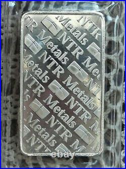 10oz. 999 Fine Solid Silver Bar. In Factory Sealed plastic pouch L