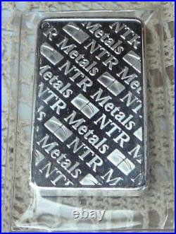 10oz. 999 Fine Solid Silver Bar. In Factory Sealed plastic pouch O