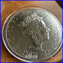 10oz QUEENS BEAST, £10, LION OF ENGLAND. Solid Silver, Royal Mint Coin
