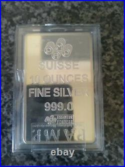 10oz Silver Bar/ Solid Pure 999 Silver/ Sealed/ Proof/ With COA/ Not Scrap
