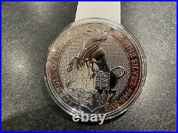 10oz The Black Bull of Clarence Queens Beast 2019 999.9 Solid Silver Coin