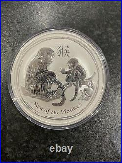 10oz Year Of The Monkey 2016.999 Solid Silver Coin, Perth Mint Lunar Series 2
