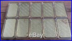 10x Engelhard 1 oz Solid Silver Bars. 999 Fine