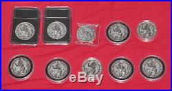 10x Lion of England Queens Beasts (2oz) pure solid silver coins UK