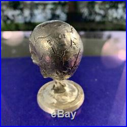 11.99 ounces of solid sterling silver, One of one cast Skull