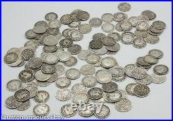 131 x threepence coins pre 1920's solid sterling silver 180g invest bullion