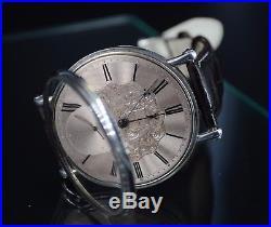 1820 Fadeuilhe antique mens trench solid silver wrist watch high grade parachute