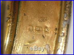 1884 VICTORIAN SOLID STERLING SILVER BUCKLE BANGLE BRACELET 9 carat GOLD FINISH