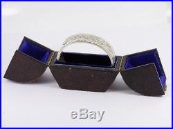 1885 Sterling Silver Victorian Bangle Solid Hinged Bracelet 925 Antique M50
