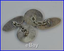 1908 Art Nouveau Pair of Mens Solid Silver Cufflinks