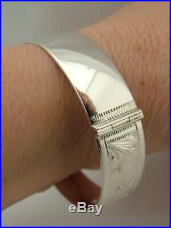 1961 London Hallmark Georg Jensen Vintage Solid Sterling Silver Bangle Bracelet