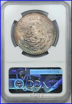 1982 NGC Mexico Silver Libertad MS65 Solid Neon Rainbow Toned