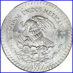 1984 NGC Mexico Silver Libertad MS66 Solid Sunset Toned Obverse