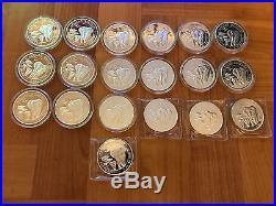 19oz 19 X 2015 Somalia 1oz 999 solid silver Elephant Silver Coin