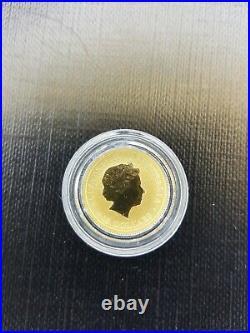1/10 oz. 9999 Solid gold Australian Kangaroo 2015