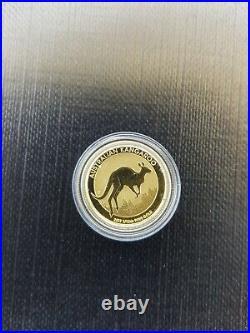 1/10 oz. 9999 Solid gold Australian Kangaroo 2017
