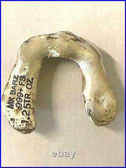 1.25 Oz MK BarZ Solid Silver Dentures/Teeth Sand Cast Bar. 999 FS