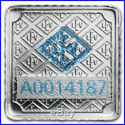1 Gram. 999 Fine Silver Bullion Bar Geiger Edelmetalle Original Square Assay