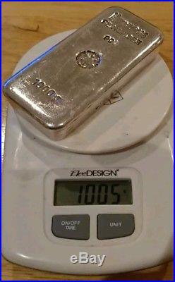 1 Kg Silver bullion bar Heraeus 100 % genuine solid silver investment one kilo