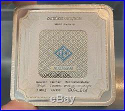 1 Kilo Silver Bar Geiger Edelmetalle (Original Square Series) Free Shipping