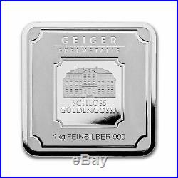 1 Kilo Silver Bar Geiger Edelmetalle (Original Square Series) SKU#155916