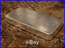 1 Kilo Solid Silver Bar. 999+ Fineness Assayer Refineries