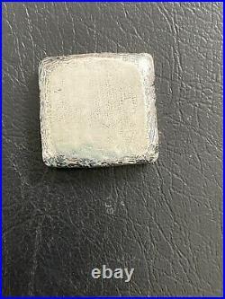 1- MK Barz 2oz Silver Big Foot Square Poured Bar. 999 Collectible Ingot Gift