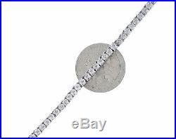 1 One Row Genuine Diamond Solid 925 Sterling Silver Tennis Bracelet 7 Inch