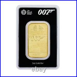1 Oz Solid Gold James Bond Bullion Bar By The Royal Mint