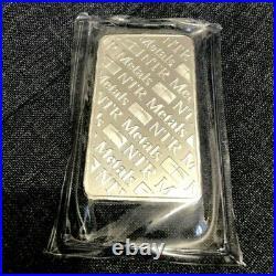 1 X NTR METAL solid Pure Silver 10oz. 999 Fine Bullion Bar