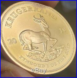 1 oz Solid Fine. 999 Gold Krugerrand bullion coin 2019 Immaculate Free Silver