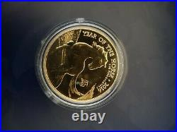 1 oz solid gold. 9999 year of the horse 2014